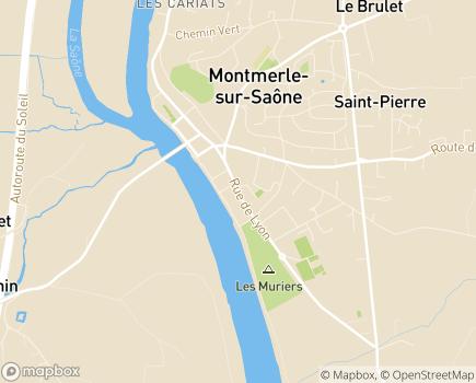 Localisation EHPAD Maison de Retraite - 01140 - Thoissey