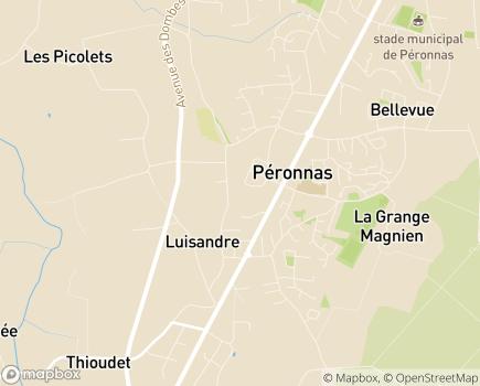 Localisation EHPAD Les Ancolies - 01960 - Péronnas