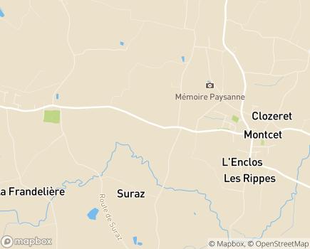 Localisation MARPA La Valette - 01310 - Montracol
