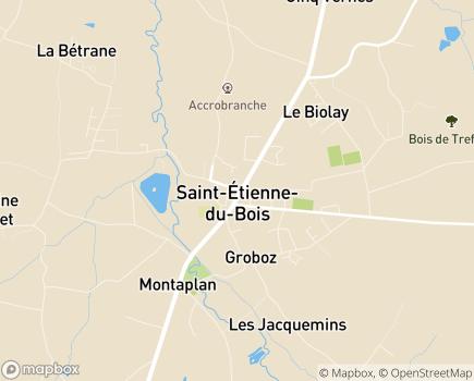 Localisation ADAPA Association Départementale Aide aux Personnes de l'Ain - 01370 - Saint-Étienne-du-Bois
