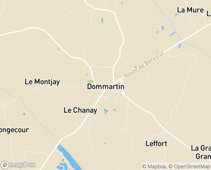 Localisation Résidence pour Personnes Agées du Dommartin - 01380 - Dommartin