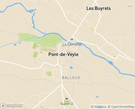 Localisation USLD Centre Hospitalier de Pont de Veyle - 01290 - Pont-de-Veyle