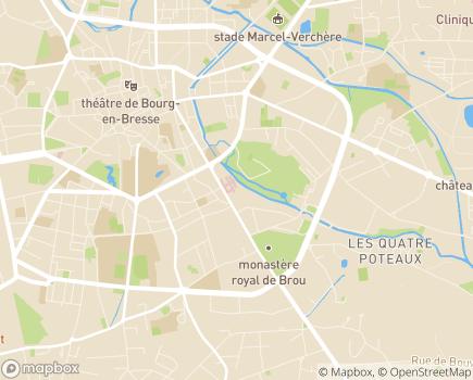 Localisation USLD Centre Hospitalier de Bourg-en-Bresse - 01000 - Bourg-en-Bresse