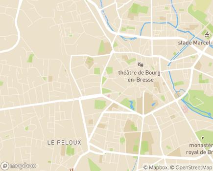Localisation EHPAD Emile Pélicand - 01000 - Bourg-en-Bresse
