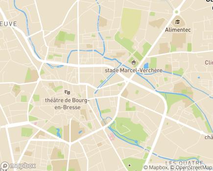 Localisation EHPAD Résidence Les Peupliers - 01000 - Bourg-en-Bresse