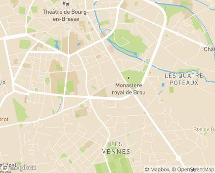 Localisation ADAPA Association Départementale d'Aide aux Personnes de l'Ain - 01004 - Bourg-en-Bresse