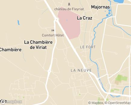 Localisation ADMR Fédération ADMR de l'Ain - 01442 - Viriat