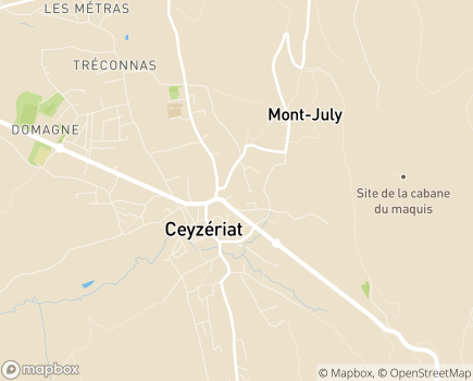 Localisation EHPAD Les Résidences Camille Cornier - 01250 - Ceyzériat