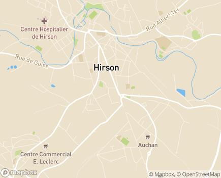 Localisation EHPAD Résidence La Dorine - 02500 - Hirson