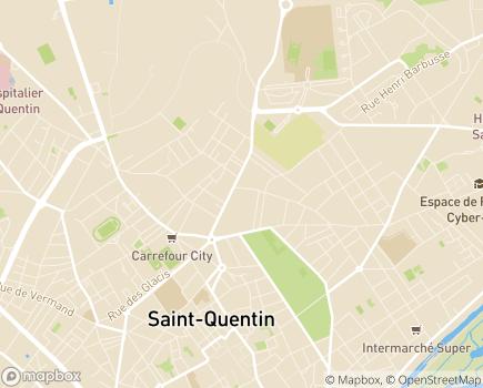 Localisation Résidence Les 3 Chênes EHPAD Association Temps de Vie - 02100 - Saint-Quentin