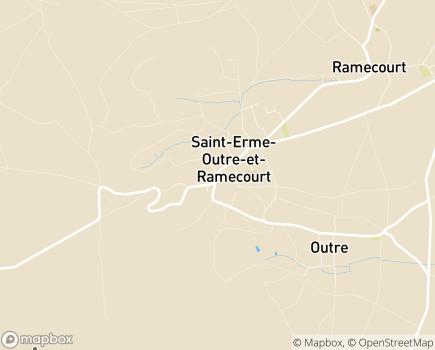 Localisation Espace Santé ESA et Centre de Soins ADMR de Saint-Erme - 02820 - Saint-Erme-Outre-et-Ramecourt