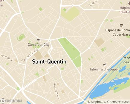 Localisation Aid'Aisne - 02100 - Saint-Quentin