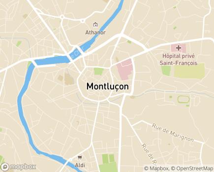 Localisation EHPAD Lakanal - 03113 - Montluçon