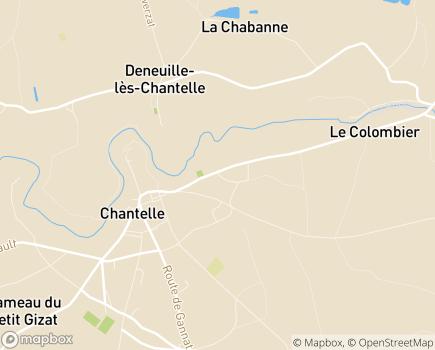 Localisation EHPAD de Chantelle - 03140 - Chantelle