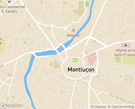 Localisation Espace Médical Allier - Montluçon - Moulins - Vichy - 03100 - Montluçon