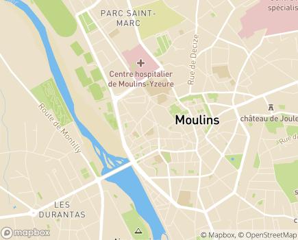 Localisation Espace Médical Moulins - 03000 - Moulins