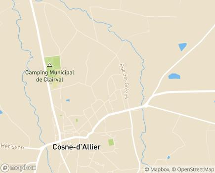 Localisation Maison de Retraite de Cosne d'Allier - 03430 - Cosne-d'Allier
