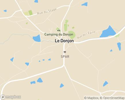 Localisation EHPAD Les Cordeliers - Maison de Retraite - 03130 - Le Donjon