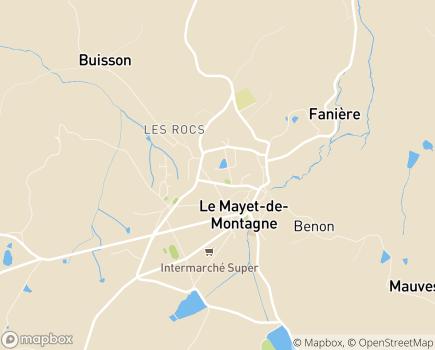Localisation EHPAD Résidence du Parc - 03250 - Le Mayet-de-Montagne
