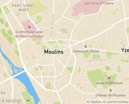 Localisation ADREA Mutuelle Centre Auvergne - 03012 - Moulins