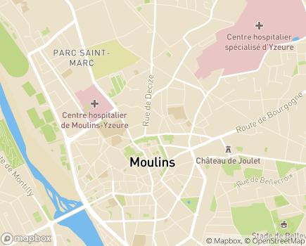 Localisation Conseil Départemental - 03016 - Moulins