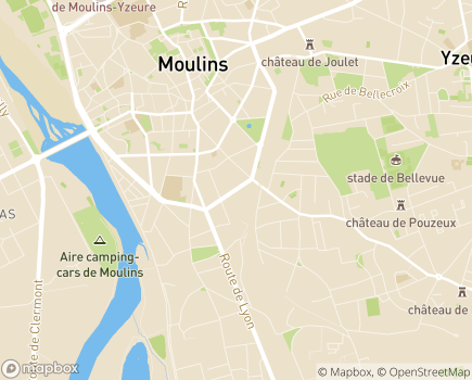 Localisation Mutualité Sociale Agricole Auvergne - Site de l'Allier - 03000 - Moulins