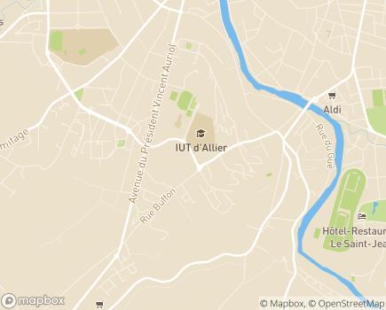 Localisation Maison de retraite - Centre hospitalier de Montlucon - 03100 - Montluçon