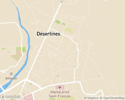 Localisation EHPAD Le Jardin des Sources - 03630 - Désertines