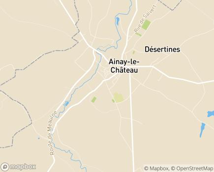 Localisation Centre Hospitalier Spécialisé Ainay Le Château - 03360 - Ainay-le-Château