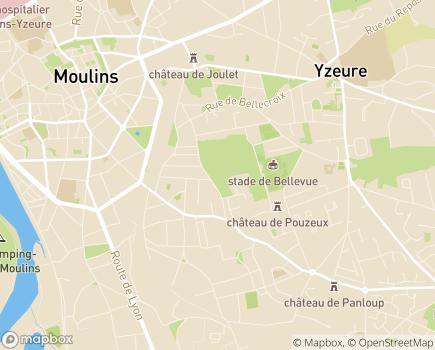 Localisation ARS Agence Régionale de Santé Délégation Départementale de l'Allier - 03400 - Yzeure