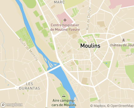 Localisation EHPAD Résidence Les Mariniers - 03000 - Moulins
