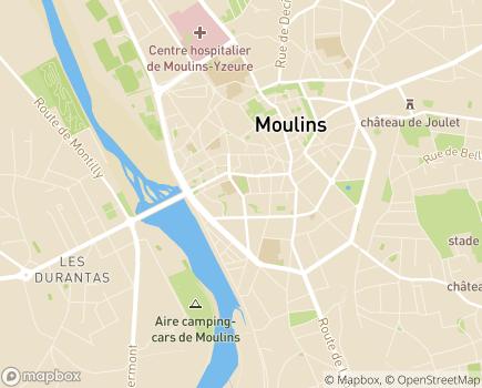 Localisation Caisse Primaire d'Assurance Maladie - 03010 - Moulins