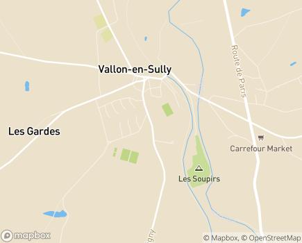 Localisation EHPAD Résidence Les Cèdres - 03190 - Vallon-en-Sully