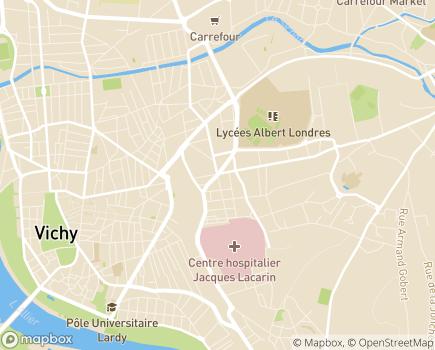 Localisation USLD du Centre Hospitalier de Vichy - 03207 - Vichy