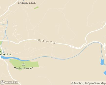 Localisation Korian - Clinique Le Verdon - 04800 - Gréoux-les-Bains
