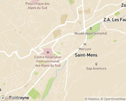 Localisation Conseil Départemental des Hautes-Alpes - 05008 - Gap