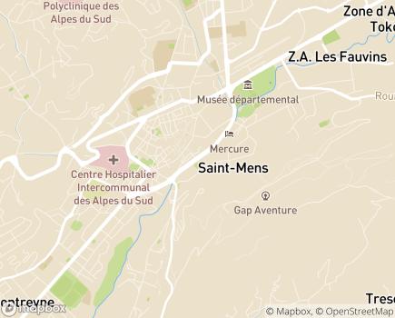 Localisation Auberge de Jeunesse FJT - 05000 - Gap
