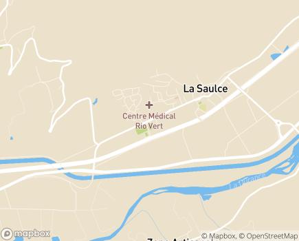 Localisation Centre Médical Rio Vert - 05110 - La Saulce