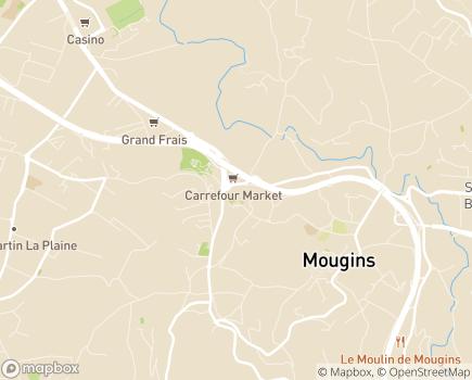 Localisation Korian La Rivièra - 06250 - Mougins
