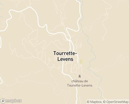 Localisation EHPAD Les Amandines - 06690 - Tourrette-Levens