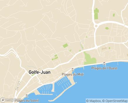 Localisation Les Jardins d'Arcadie Golfe Juan - 06220 - Le Golfe-Juan