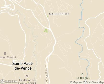 Localisation EHPAD Résidence La Bastide des Cayrons - 06140 - Vence