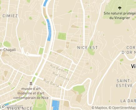 Localisation Korian Sorgentino - 06000 - Nice