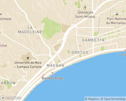 Localisation Korian Château des Ollières - 06000 - Nice