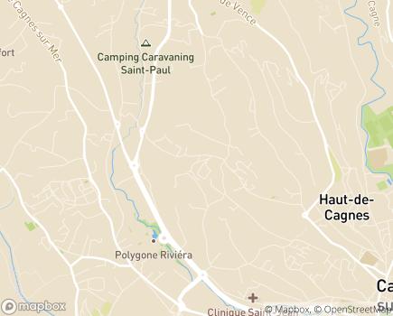 Localisation EHPAD Résidence Les Jardins d'Inès - 06800 - Cagnes-sur-Mer