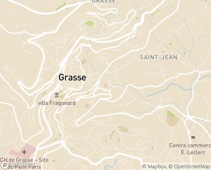 Localisation Clinique du Palais (Almaviva Santé) - 06130 - Grasse