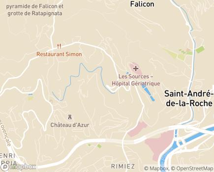 Localisation Villa de Falicon LNA Santé - 06100 - Nice