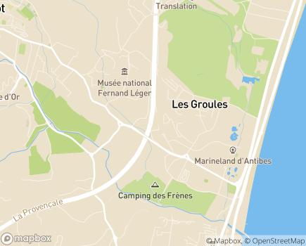 Localisation Résidence Services Fontaine d'Azur - 06600 - Antibes