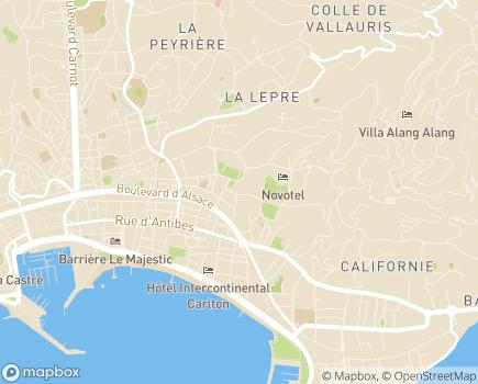 Localisation EHPAD Résidence Villa Gallia - 06400 - Cannes