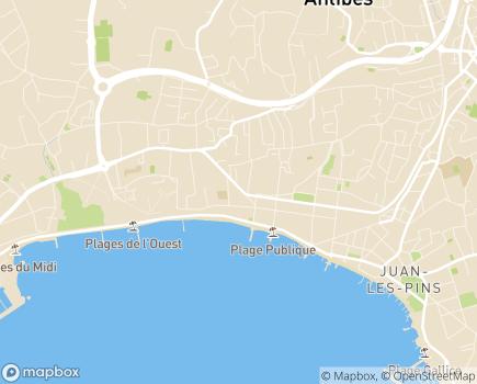 Localisation SSIAD Adoram - 06160 - Juan-les-Pins